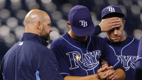 Rays to place LHP Moore (sore elbow) on DL