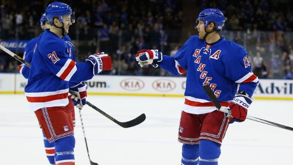 Video - Richards Leads Rangers Past Hurricanes