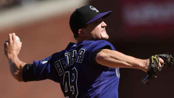 Rockies P Anderson hurt in win over Giants