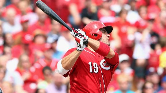 Heisey's slam sparks Reds' lopsided victory