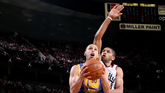 Blazers overcome Curry's 47, stop Warriors