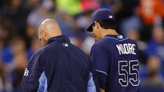 Rays' Moore undergoes Tommy John surgery