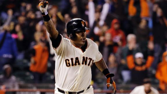 Sanchez sends Giants past Dodgers in 12th