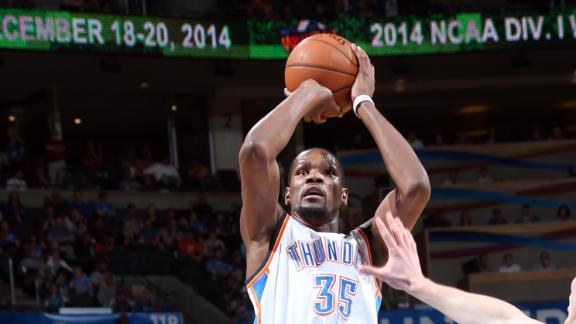Durant's 42 help OKC secure second seed