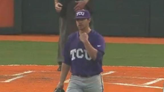 TCU Opens Up Series with 3-0 Win