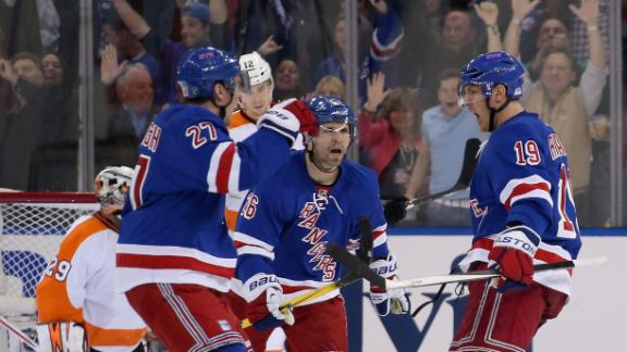 Video - Rangers Win Opener With Flyers