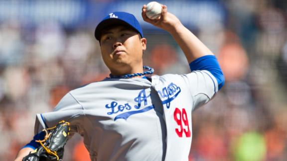 Ryu dominates as Dodgers take down Giants