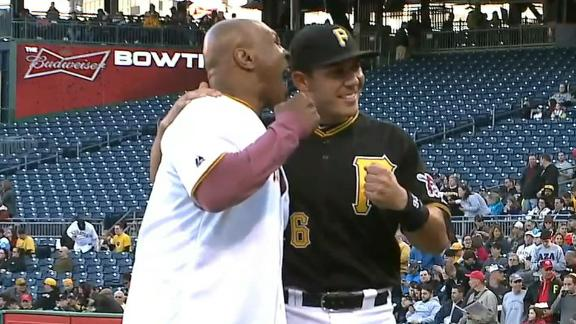Video - Tyson Throws Out First Pitch, Re-enacts Biting Holyfield's Ear