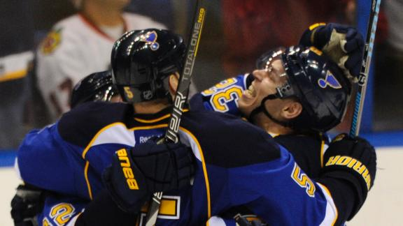 Blues Win In OT To Take 2-0 Lead