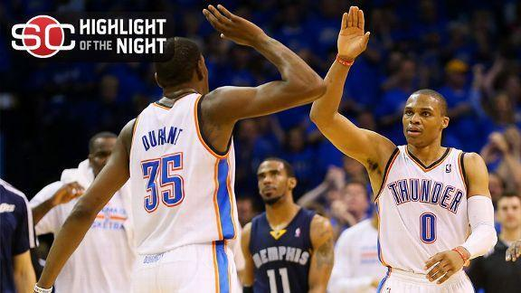 2014 NBA Playoffs: Thunder strike first