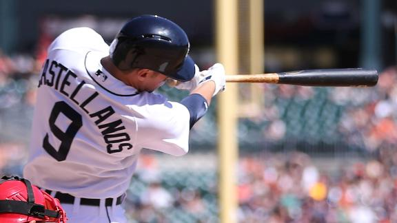 Tigers win, benefit from L.A.'s fielding fiasco