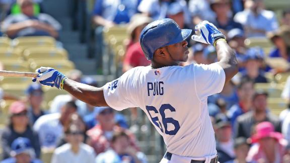 Dodgers top D-backs behind Puig's bat, arm