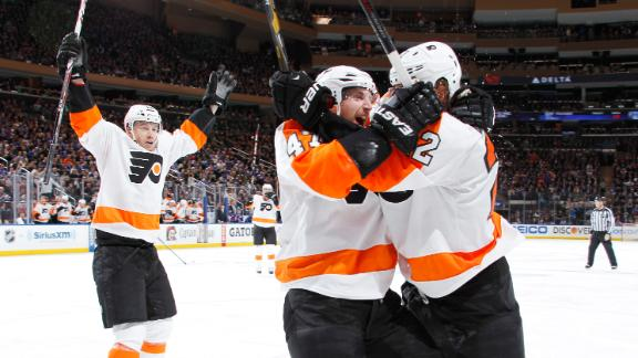 Flyers Rally Past Rangers, Even Series