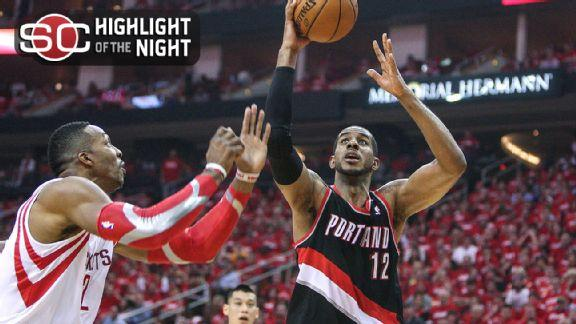 Aldridge's 46 lead Blazers by Rockets in OT