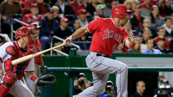 Ibanez's 3-run double leads Angels by Nats