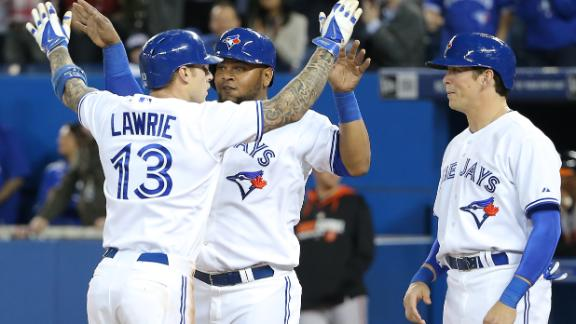 Blue Jays Fly By Orioles