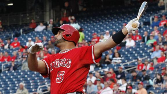 Pujols goes yard twice to join 500 HR club