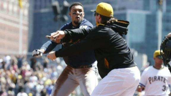 Four Suspended For Brewers-Pirates Brawl