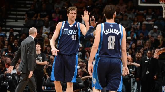 Mavs cruise past Spurs to even series 1-1