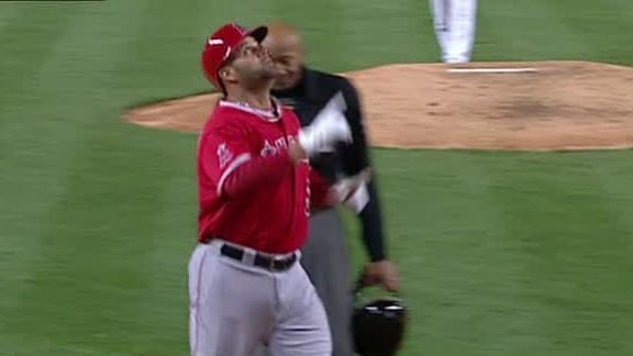 Pujols hits homer No. 501, Angels rout Yanks
