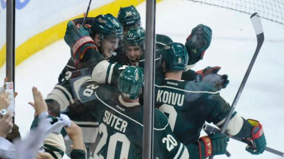 Wild Hold Off Avs For Game 4 Win