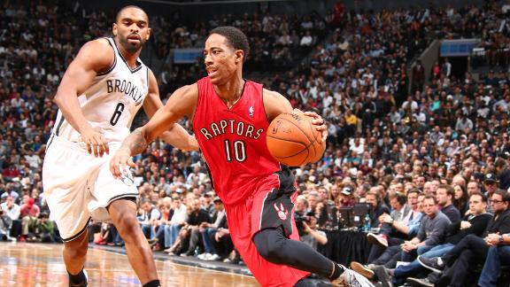 Raptors blow lead, but top Nets to tie series