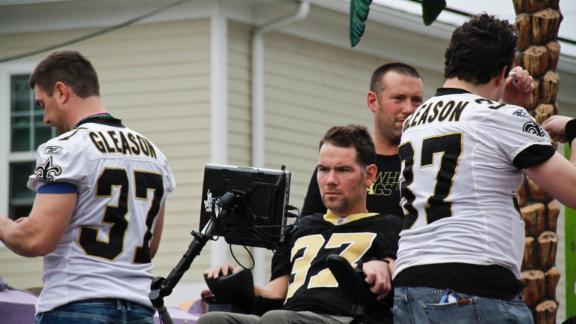 Saints owner gives Gleason $5M for ALS help