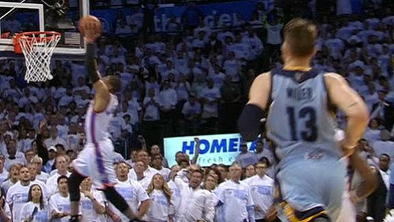 Video - Westbrook's Clutch Pluck, Then Dunk