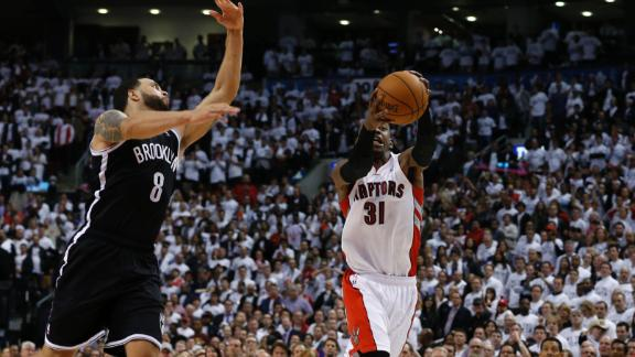 Raptors blow 26-point lead, hold off Nets