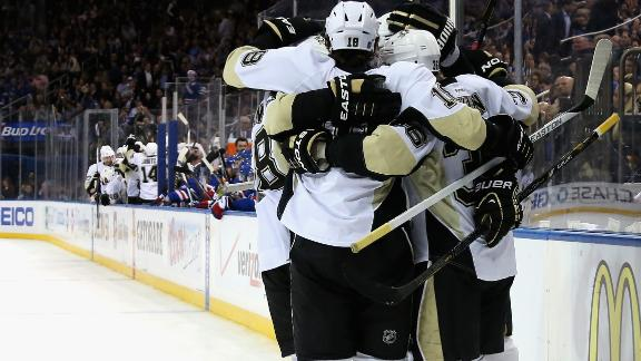 Penguins Double Up Rangers
