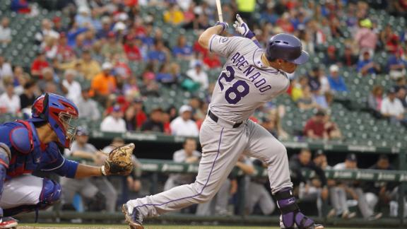 Arenado Extends Hitting Streak In Loss