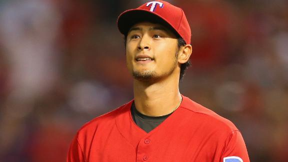 Darvish falls 1 out shy of no-no vs. Red Sox