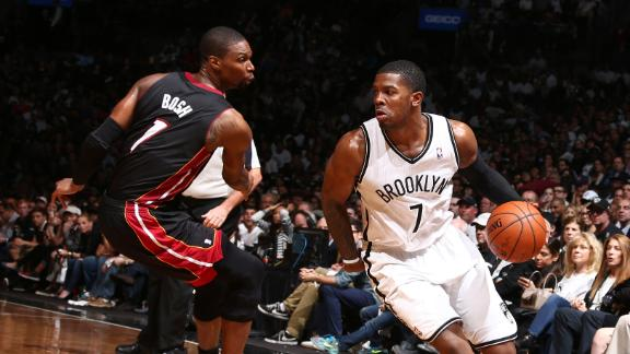 Nets rain 3s, rein in Heat for Game 3 victory