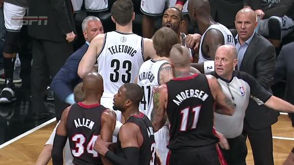 Video - Tempers Flare In Nets-Heat Scrum