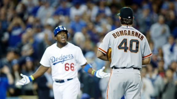 Puig, Bumgarner Get Heated
