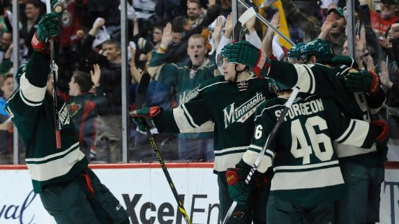 Wild Even Series With Blackhawks