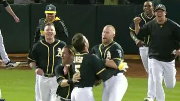 Jaso's HR, double power A's past Nats in 10