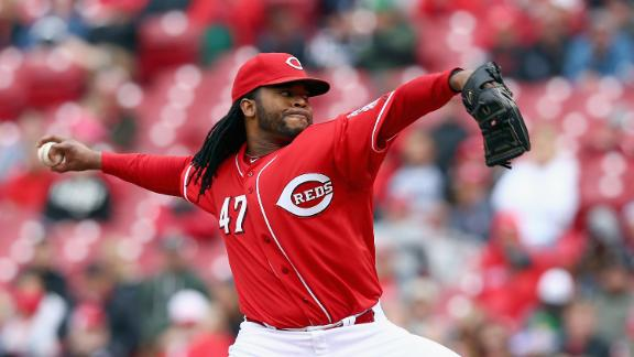 Cueto Tosses Gem, Shuts Out Padres