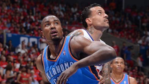 OKC's Ibaka (calf) likely out rest of playoffs