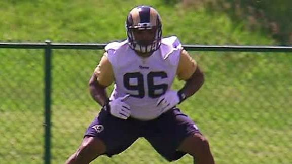 Michael Sam Participates In Rams Rookie Minicamp