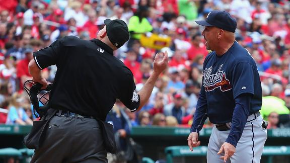 Video - Gonzalez Ejected In Braves' Loss