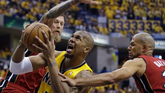 George, Pacers pull away from Heat in Game 1