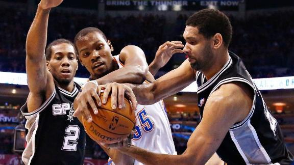 Spurs skeptical of Ibaka's absence for OKC