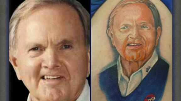Ralph Wilson Jr. Image Tattooed On Fan's Arm
