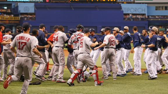 Benches Clear, Red Sox Slump Continues