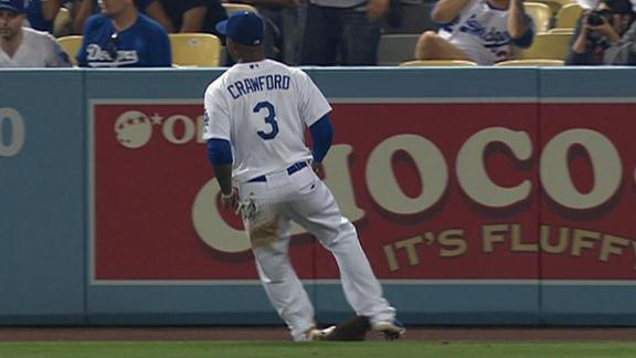 Video - Crawford Injures Ankle Fielding Grounder