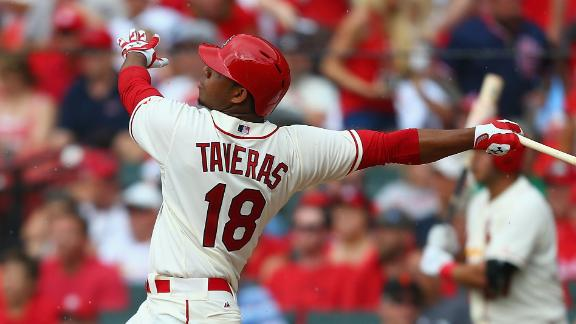 Taveras Slugs Home Run In Debut
