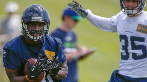Seahawks WRs Battle It Out In OTAs