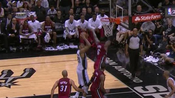 Duncan Bucket Over LeBron