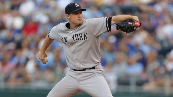 Yankees' Whitley goes 7 for first career win